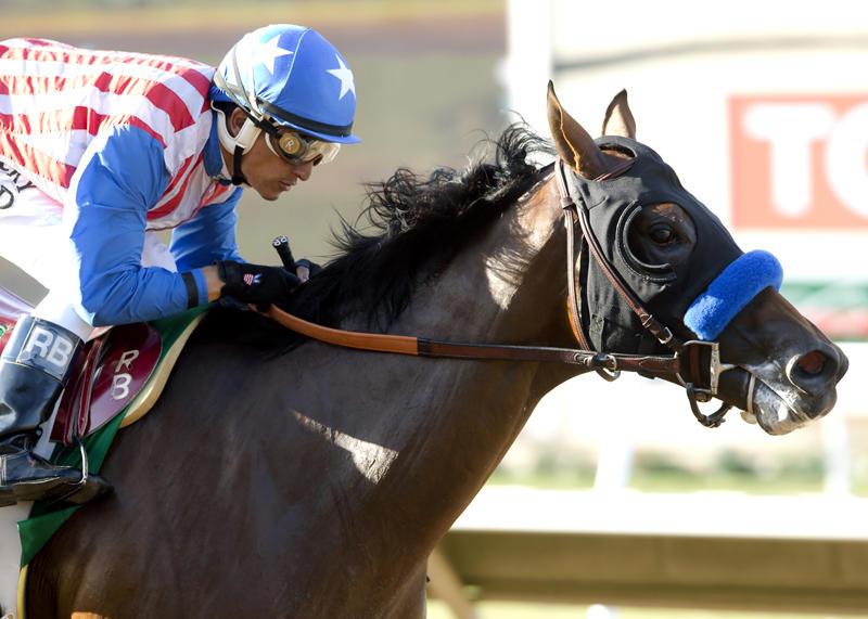 Kaleem Shah's Klimt and jockey Rafael Bejarano win the Grade…