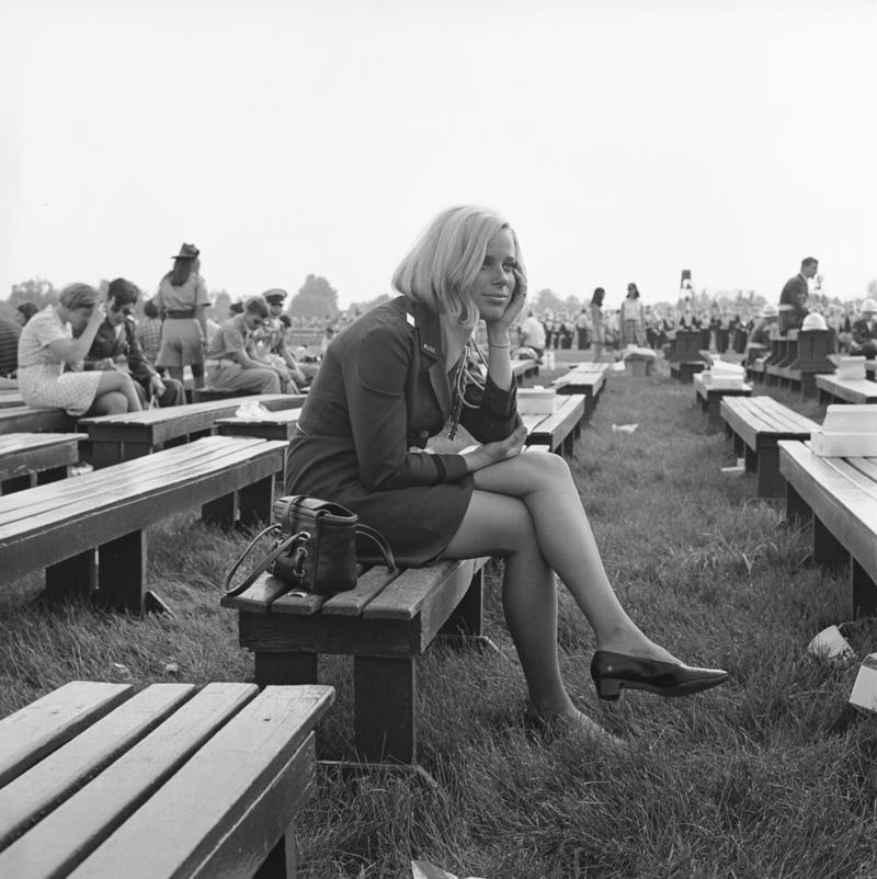 1969  Woman on bench