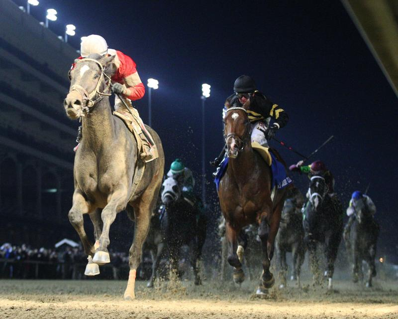 McCraken winning the 2016 Kentucky Jockey Club