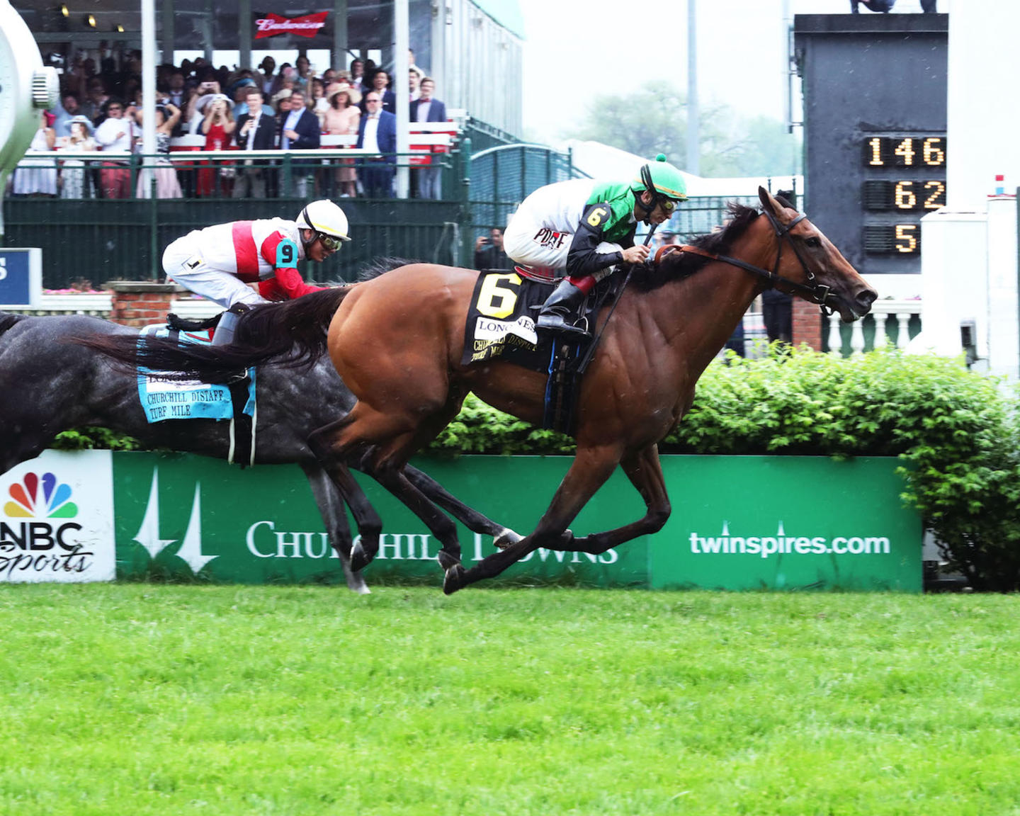 PROCTOR'S LEDGE - The Longines Churchill Distaff Turf Mile G2 - 33rd Running - 05-05-18 - R07 - CD - Finish 01