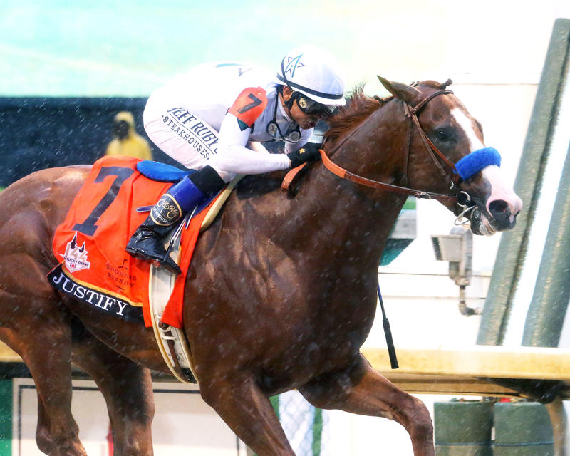 J20180505 JUSTIFY - The Kentucky Derby G1  CD - Finish Tight…