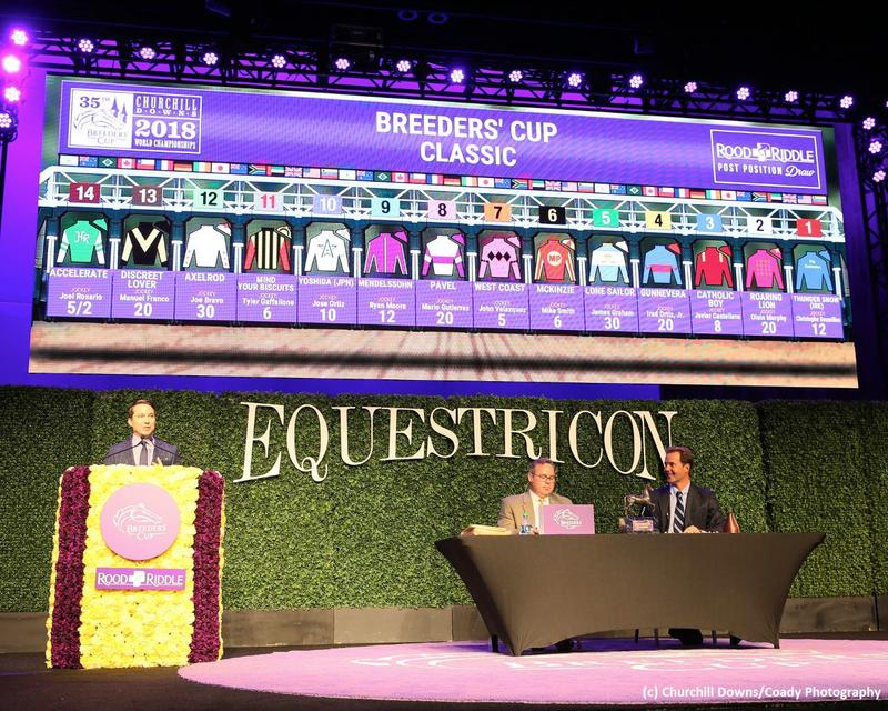 2018 Breeders' Cup Classic Draw (c) Churchill Downs/Coady…