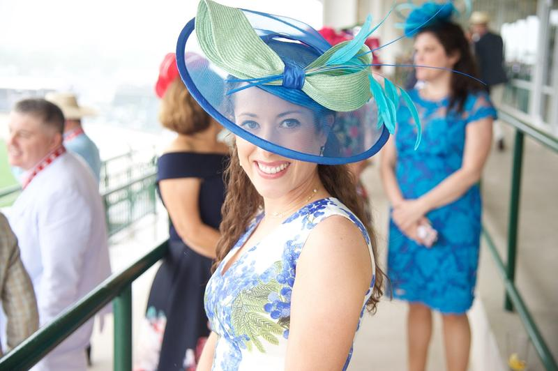 Blue and Green Fascinator