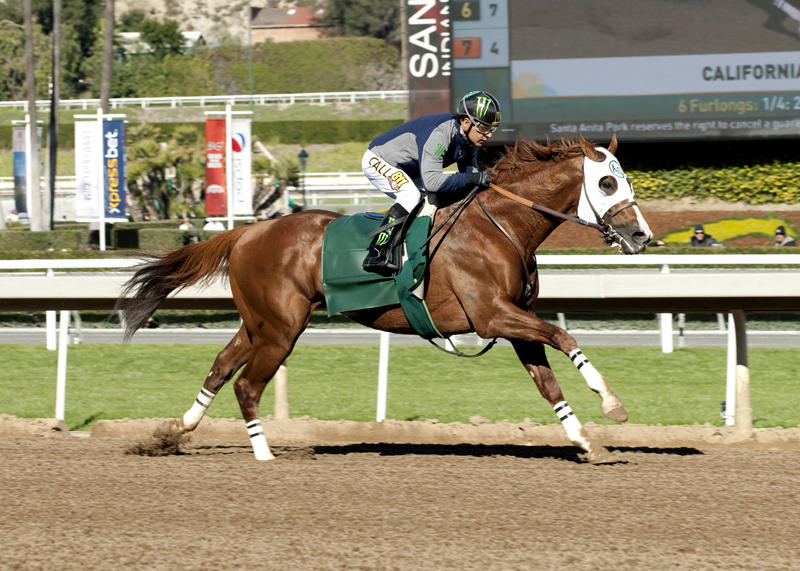 In his final work in preparation for Santa Anita?s Grade…