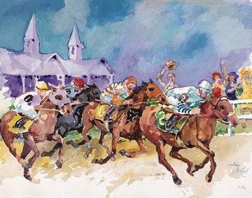 Churchill Downs Releases 2017 Official 'Art of the Kentucky Derby' By Kentucky Artist Jim Cantrell