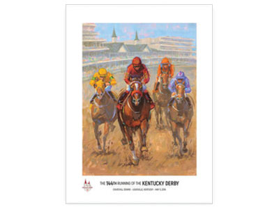 Churchill Downs Unveils Official 2018 Art of the Kentucky Derby by Kentucky Artist Lynn Dunbar